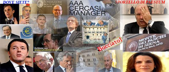 Capaccio Paestum: Monte Paschi se ne va
